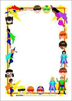 Superhero frame clipart