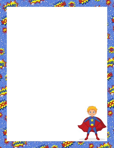 Superhero border clipart svg freeuse download Pin by Muse Printables on Page Borders and Border Clip Art ... svg freeuse download