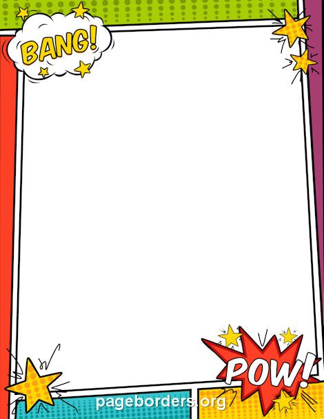 Superhero border clipart png free Pin by Muse Printables on Page Borders and Border Clip Art ... png free