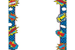 Superhero frame clipart clip library library Superhero border clipart 1 » Clipart Station clip library library