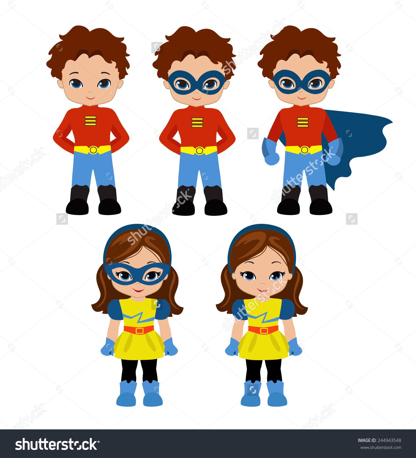 Superhero boy and girl clipart 1 color clip art black and white stock Superhero boy and girl clipart 1 color - ClipartFest clip art black and white stock