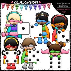 Superhero boy and girl clipart 1 color vector free download Superhero Holding Number Clip Art - Math Numbers commercial clipart vector free download