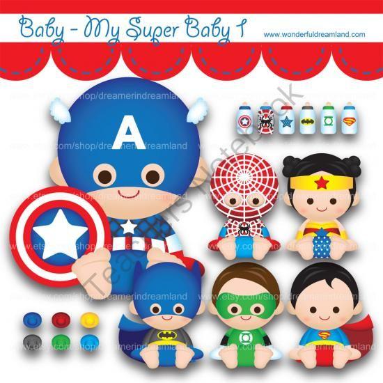 Superhero boy and girl clipart 1 color image freeuse Printable Clipart Clip Art Digital PDF PNG File - Superhero Super ... image freeuse