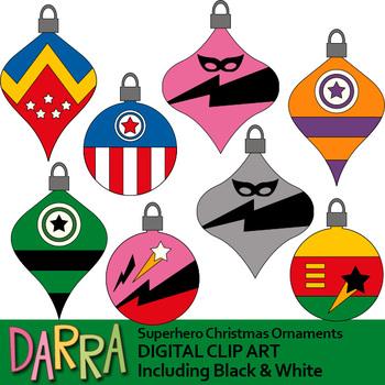 Superhero christmas clipart transparent stock Superhero Christmas Ornaments Clipart transparent stock