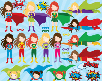 Superhero clipart creator graphic royalty free download Superheroes clipart | Etsy graphic royalty free download