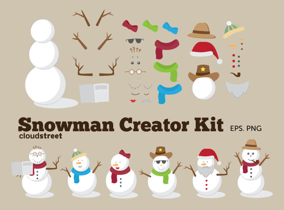 Superhero clipart creator clip art royalty free stock buy 2 get 1 free Christmas clip art : Snowman Creator Kit for clip art royalty free stock