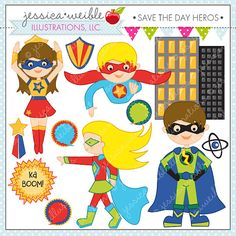 Superhero clipart creator jpg freeuse library buy 2 get 1 free Superhero Girls Creator Kit clip art for personal ... jpg freeuse library