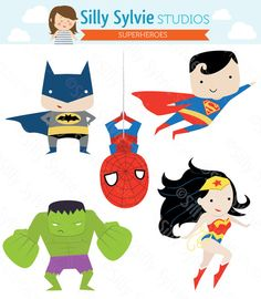 Superhero clipart creator free download buy 2 get 1 free Superheroes Creator Kit clip art for personal and ... free download