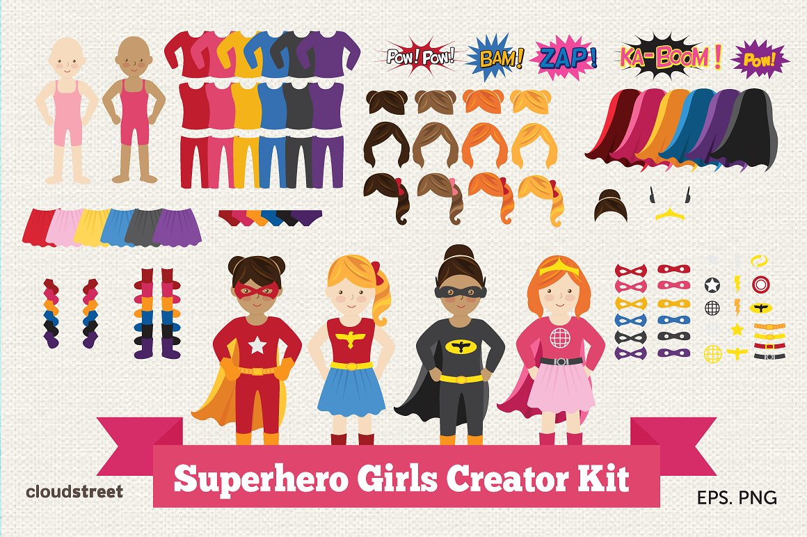 Superhero clipart creator image library download Superhero clipart Photos, Graphics, Fonts, Themes, Templates ... image library download