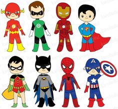 Superhero clipart creator jpg freeuse buy 2 get 1 free Cute Robots Creator Kit clip art for personal and ... jpg freeuse