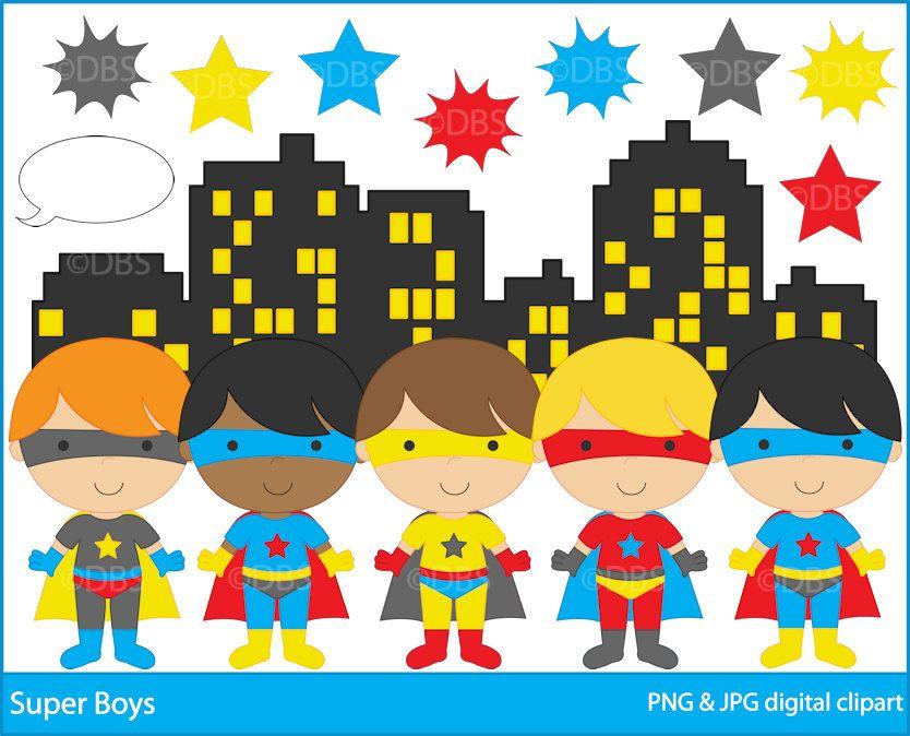 Superhero clipart pre k clipart black and white superhero clipart digital clip art super hero boys - BUY 2 ... clipart black and white