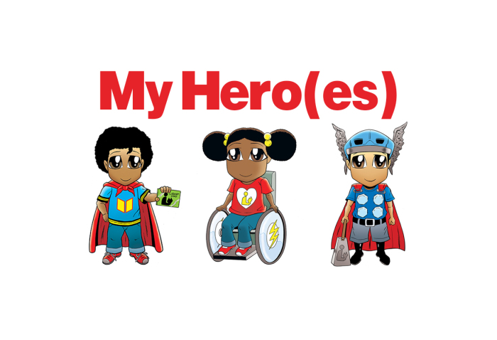 Superhero clipart diverse transparent My Hero(es) | Hafuboti transparent