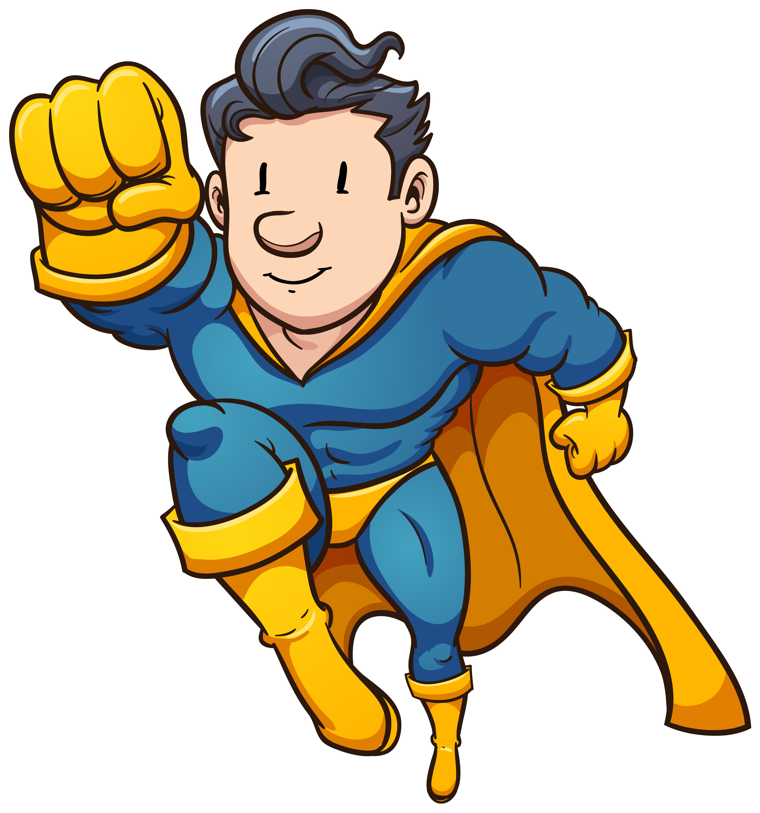 Superhero clipart in action image transparent stock 101+ Superhero Clip Art | ClipartLook image transparent stock