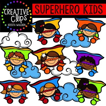 Superhero kid clipart svg royalty free stock Superhero Clipart KIDS {Creative Clips Clipart} svg royalty free stock
