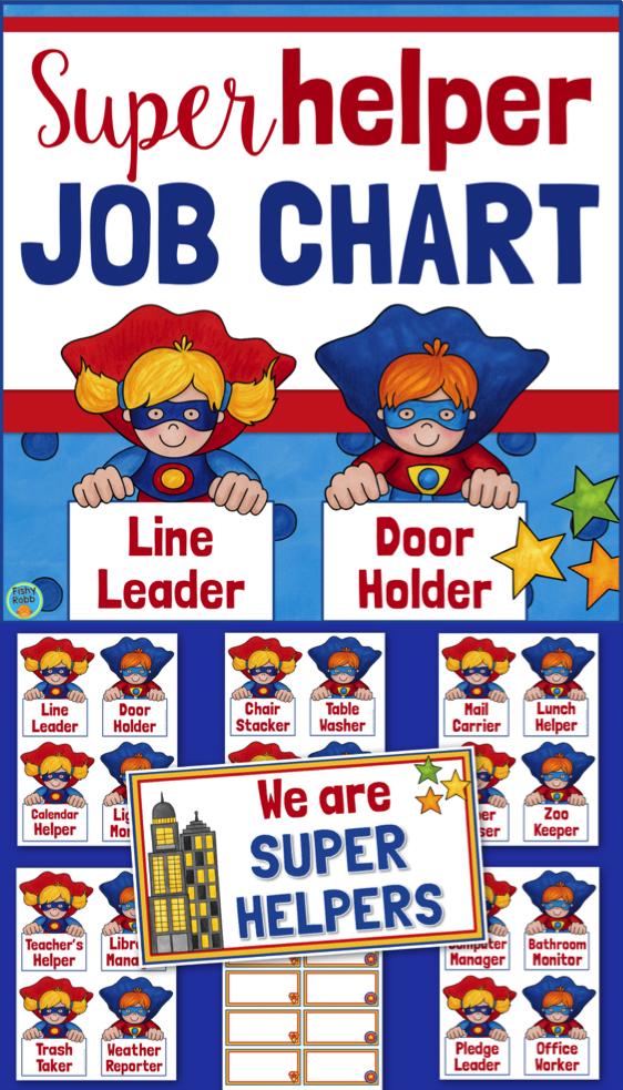 Superhero clipart pre k image library stock Classroom Jobs Superhero Job Chart | Ed preK superheros ... image library stock