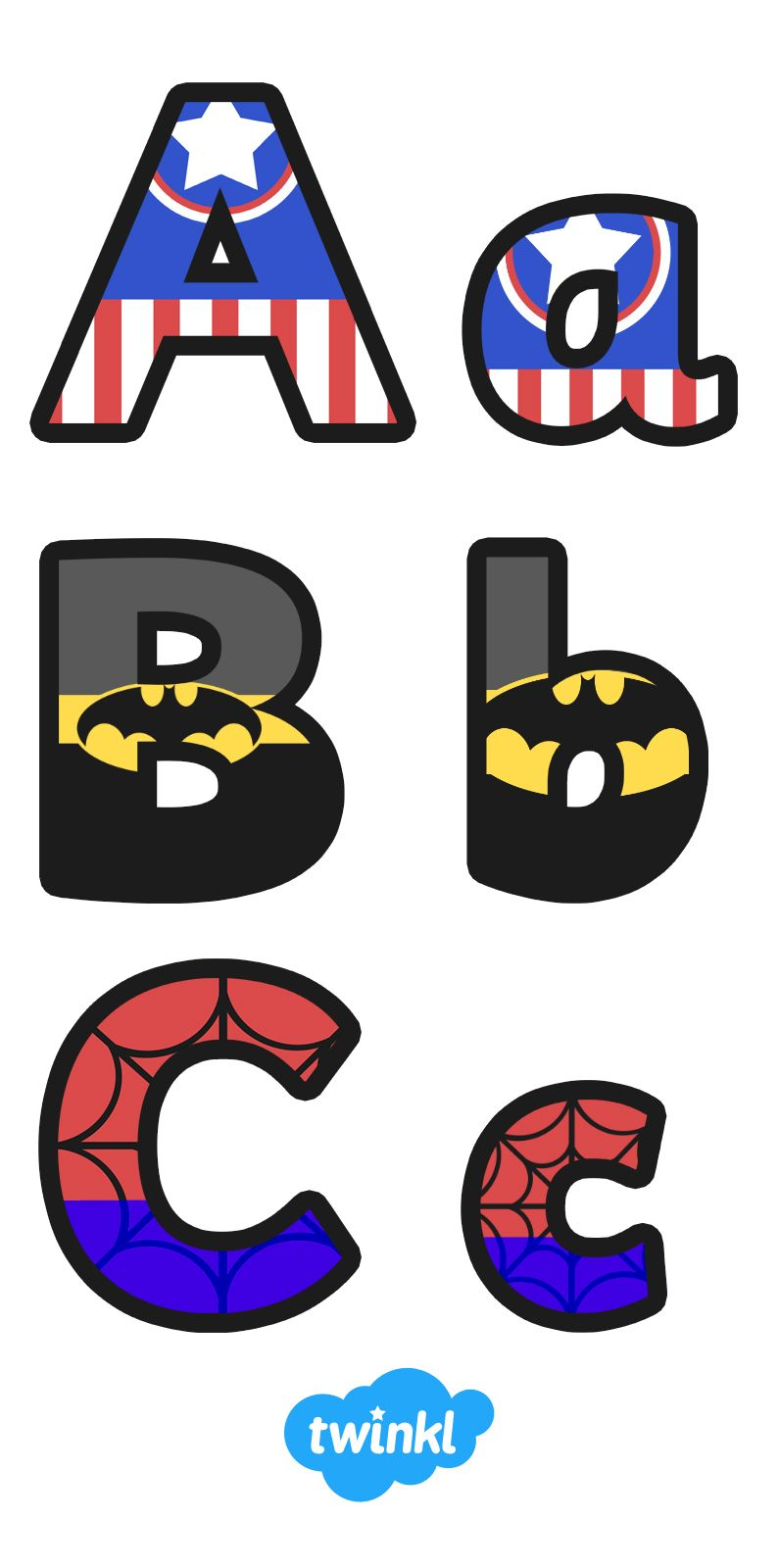Superhero clipart pre k svg royalty free Superhero Alphabet Display Letter … | Pre-k 4/5 Class | Super… svg royalty free