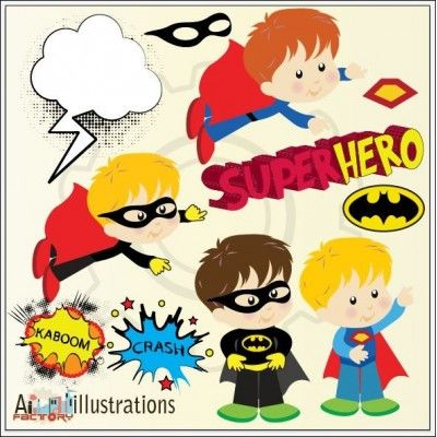 Superhero clipart pre k clip transparent stock Cute superhero clipart set illustrations | Cliparts ... clip transparent stock