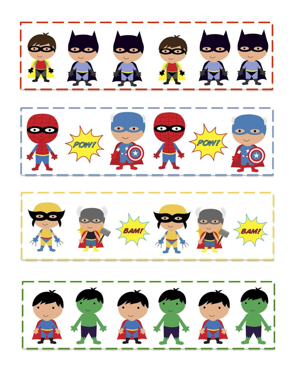 Superhero clipart pre k svg download Pin by Gia Lowell on Printable Bookmarks | Superhero ... svg download
