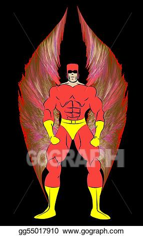 Superhero costume generic clipart picture download Stock Illustration - Generic male superhero with wings in ... picture download