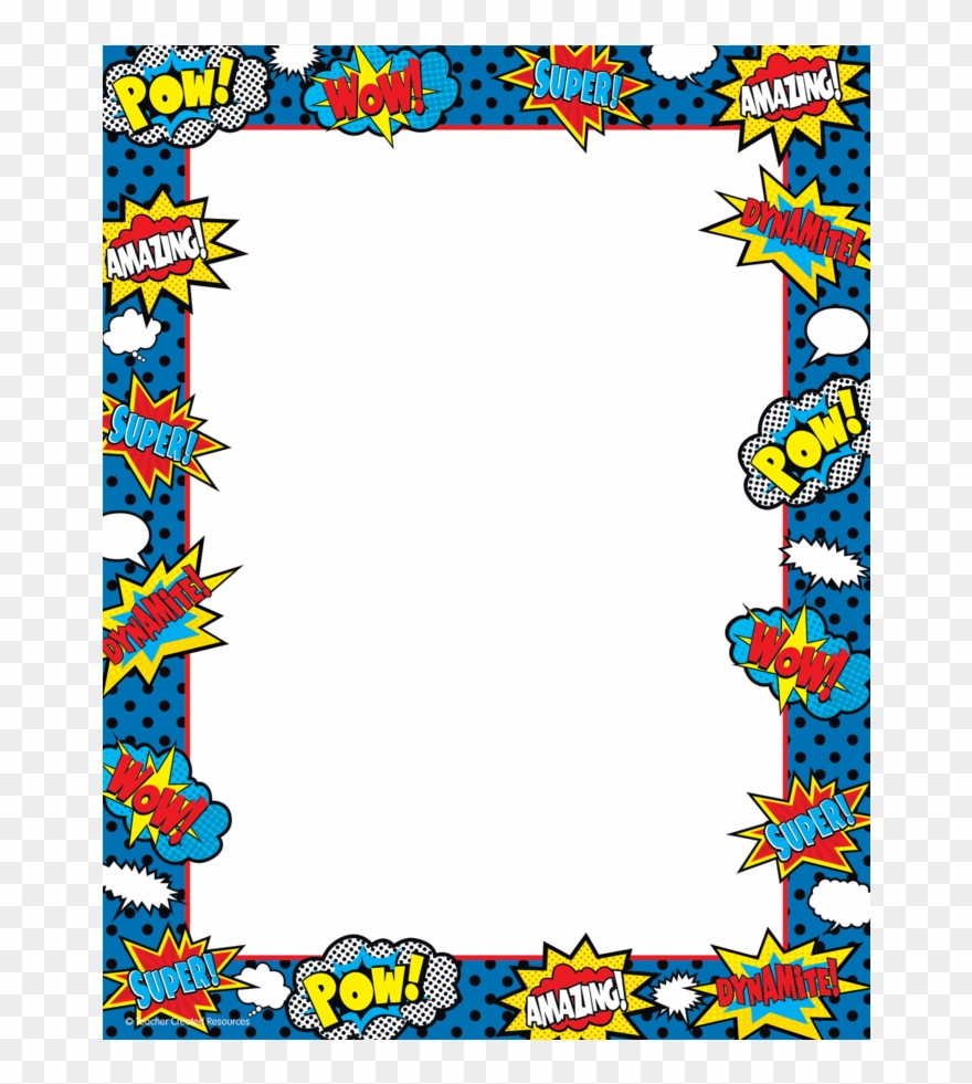 Superhero frame clipart graphic download Recycle Clipart Border - Superhero Border Png Transparent ... graphic download