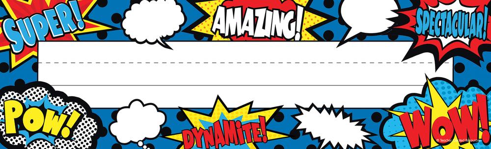 Superhero nameplates clipart clipart download Superhero Name Plates (ID=18814) clipart download