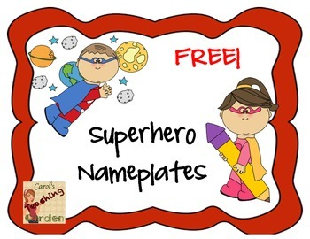 Superhero nameplates clipart picture free stock Superhero Nameplates Worksheets & Teaching Resources | TpT picture free stock