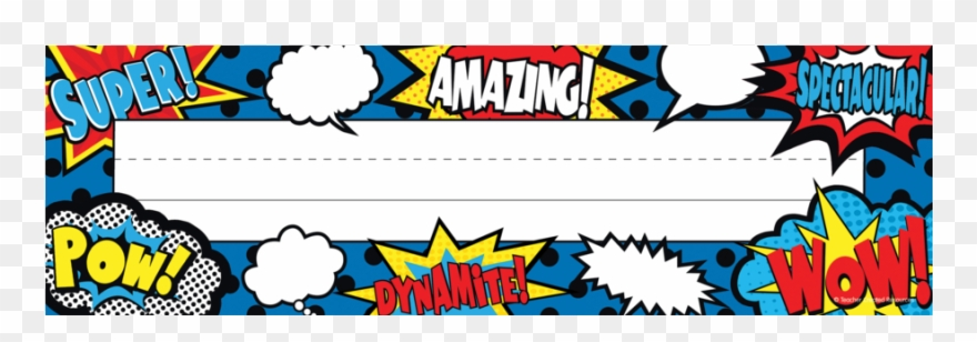 Superhero nameplates clipart royalty free download Superhero Flat Name Plates Clipart (#2313449) - PinClipart royalty free download