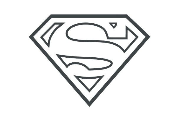 Superhero outline clipart image black and white library Free Superhero Badge Cliparts, Download Free Clip Art, Free ... image black and white library