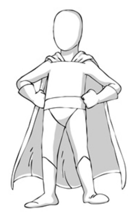 Superhero outline clipart clipart freeuse Super Hero Template for designing your very own #Superflex ... clipart freeuse