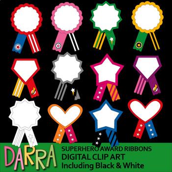 Superhero ribbon clipart svg library stock Superhero Award Ribbons Clip Art svg library stock