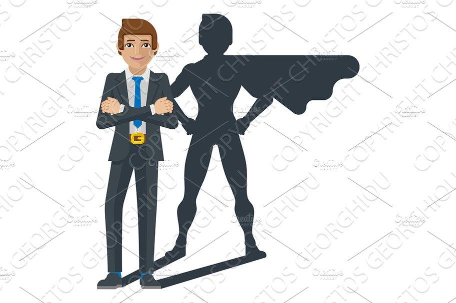 Superhero ripping of tuxido clipart vector royalty free stock Superhero Businessman Shadow vector royalty free stock