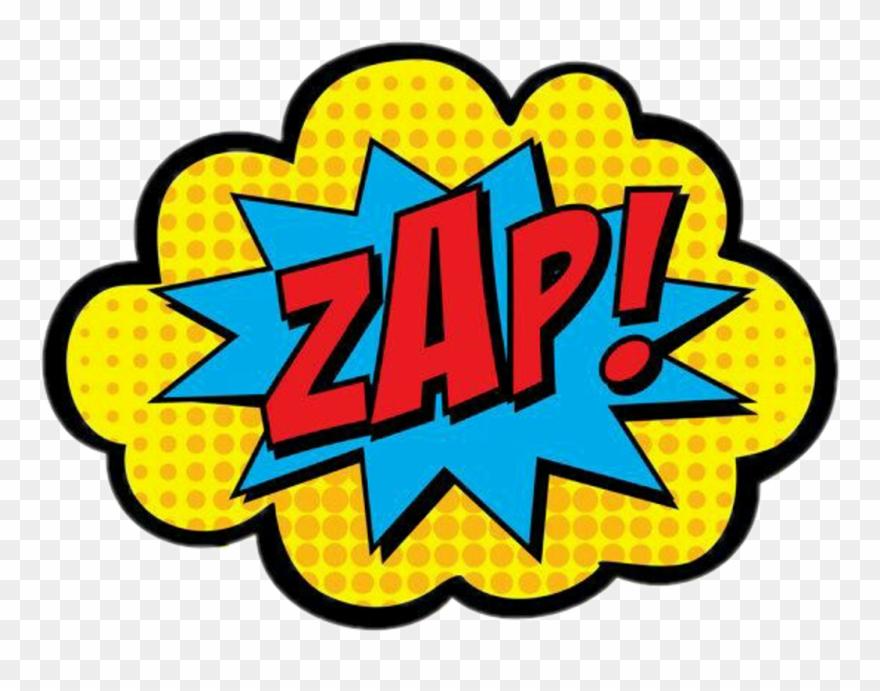 Superhero sounds clipart vector free library zap #exclamation #exclamação #sound #som #soundbubble ... vector free library
