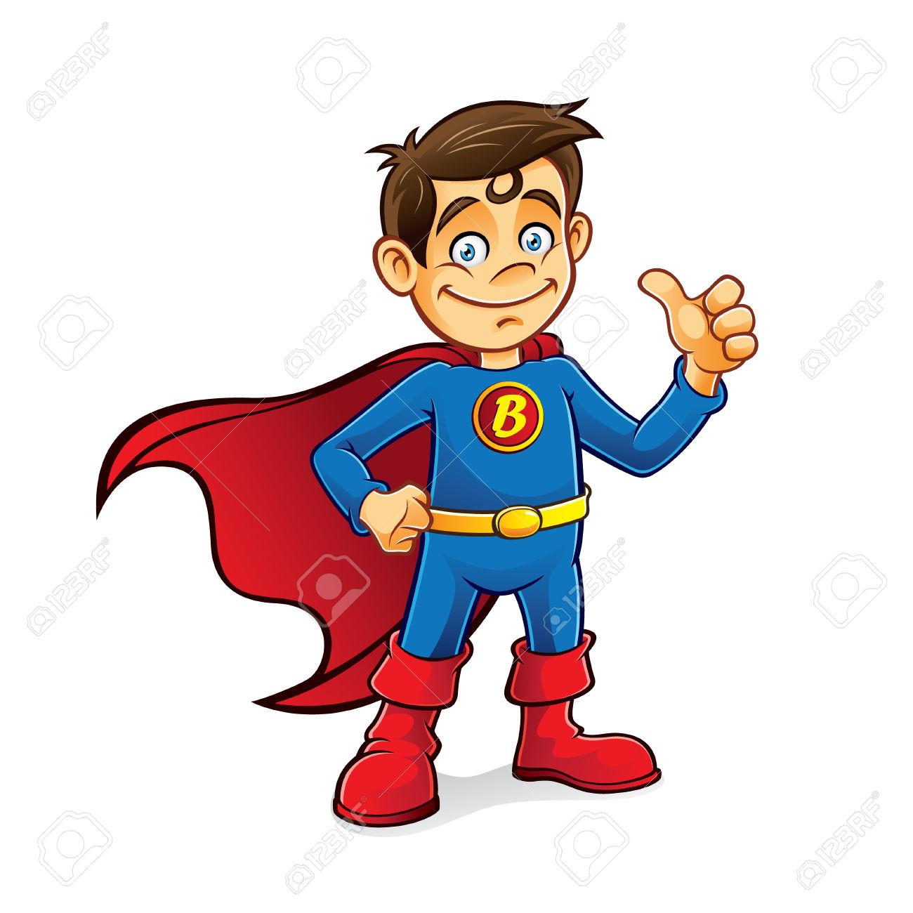 Superhero thumbs up clipart