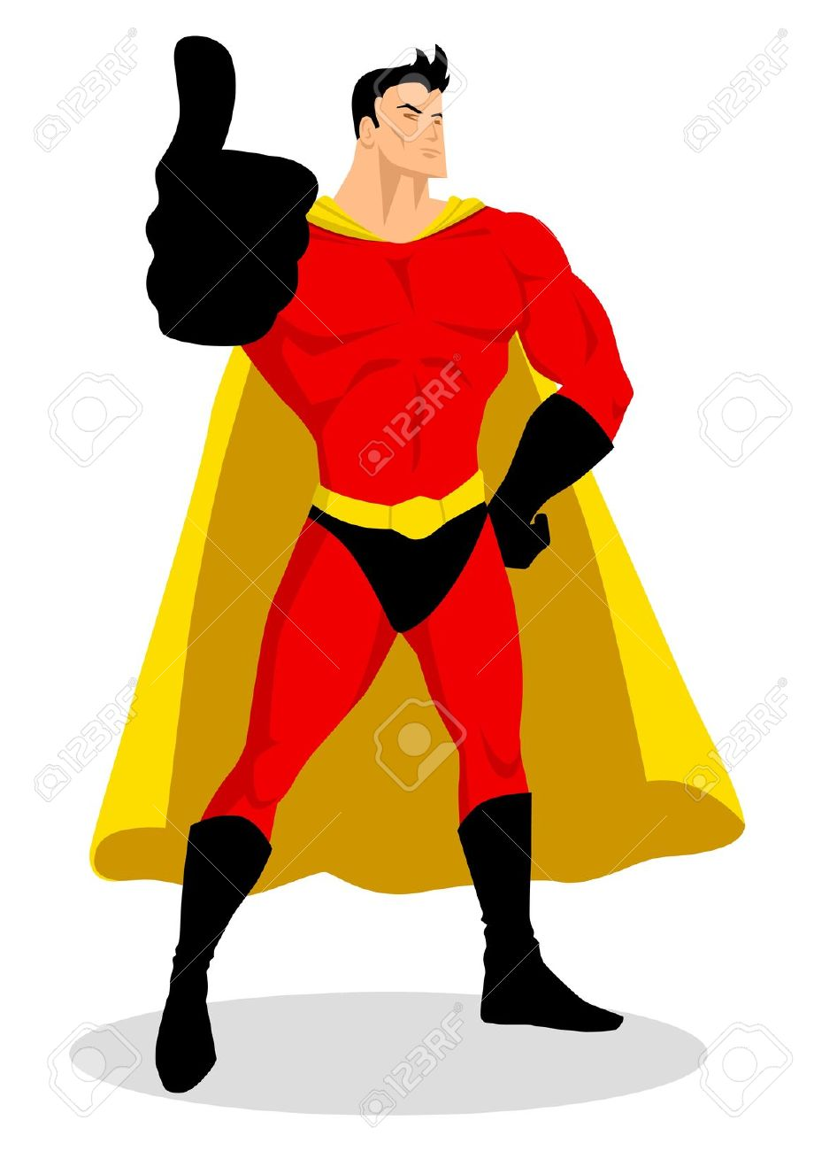 Superhero thumbs up clipart clipart black and white Superhero thumbs up clipart - ClipartFest clipart black and white