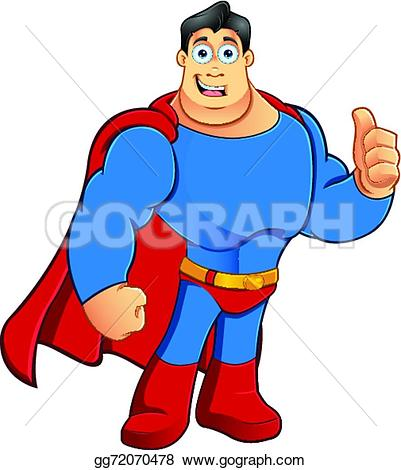Superhero thumbs up clipart freeuse library Vector Illustration - Superhero - thumbs up. Stock Clip Art ... freeuse library