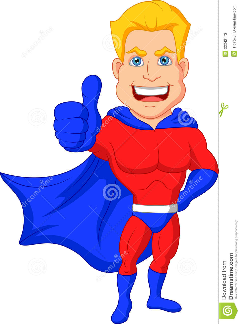 Superhero thumbs up clipart png black and white Superhero Cartoon With Thumb Up Stock Photos - Image: 33242173 png black and white