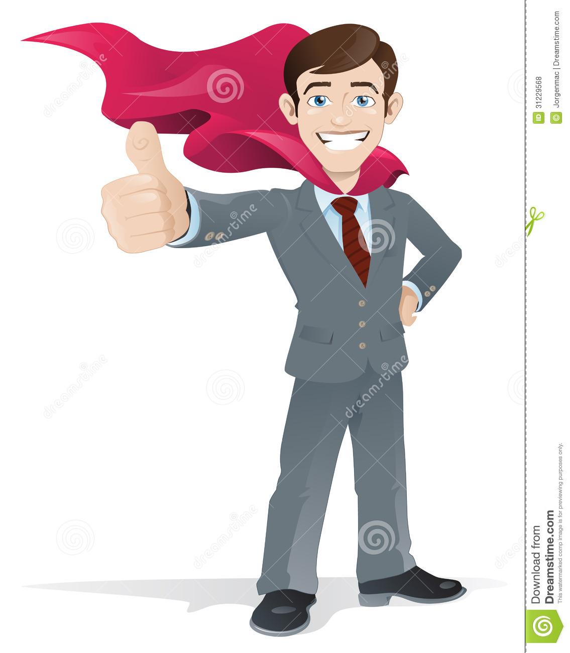 Superhero thumbs up clipart clipart transparent stock Superhero Businessman Gives The Thumbs Up Royalty Free Stock ... clipart transparent stock