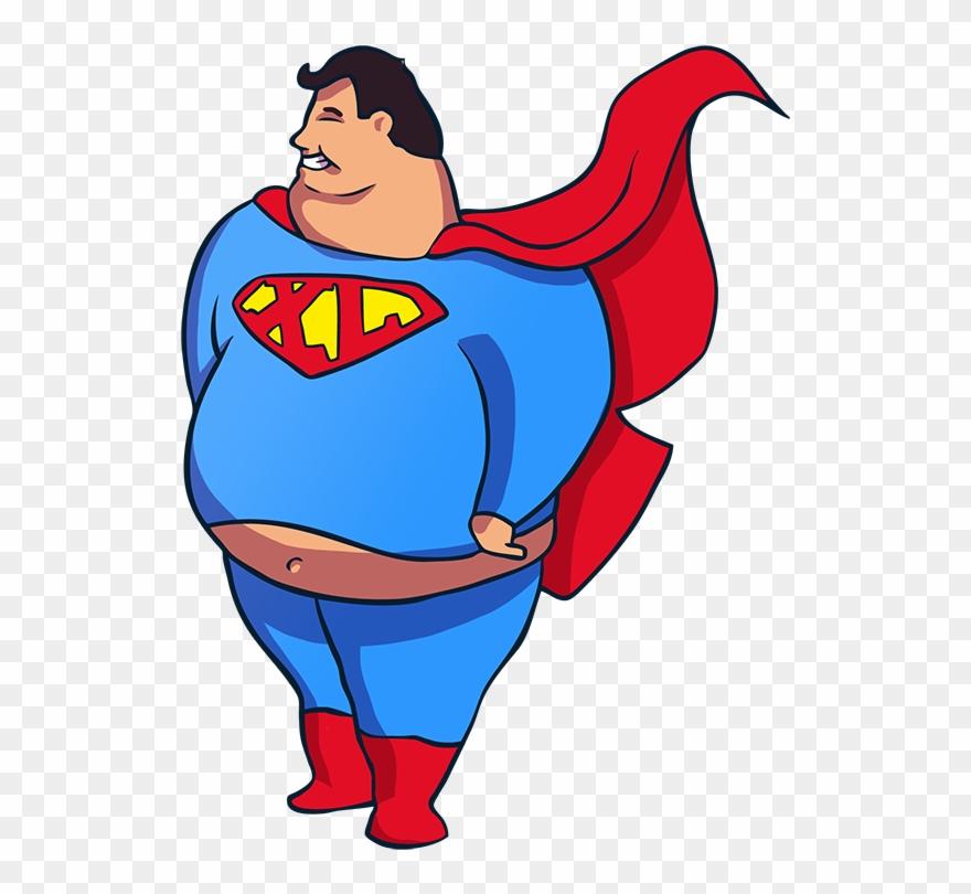 Superhero turkey clipart svg freeuse November Clipart Turkey Fat - Fat Superman Png Transparent ... svg freeuse