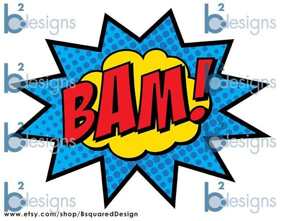 Superhero zap pow clipart library picture library Superhero Party Signs Boom Pow Zap Bam Pop 8.5 x 11 | Etsy ... picture library