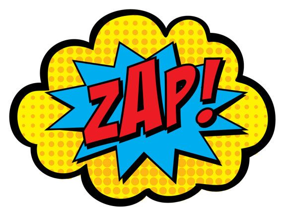 Superhero zap pow clipart library image black and white stock Pow Clipart | Free download best Pow Clipart on ClipArtMag.com image black and white stock