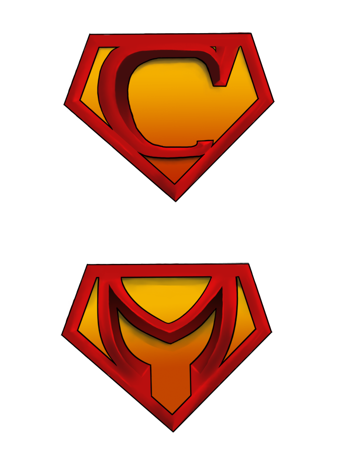 Superman alphabet clipart man vector free library Superman Symbol With Different Letters | Free Download Clip Art ... vector free library