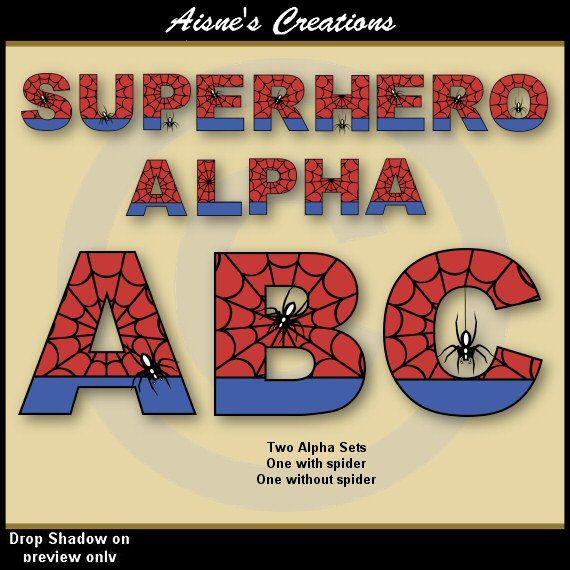 Superman alphabet clipart man clip freeuse download 17+ images about Aisne's Creations Etsy Alphabet & Numbers on ... clip freeuse download