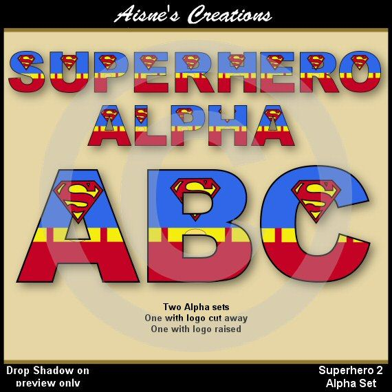 Superman alphabet clipart man jpg royalty free library 17+ images about Aisne's Creations Etsy Alphabet & Numbers on ... jpg royalty free library