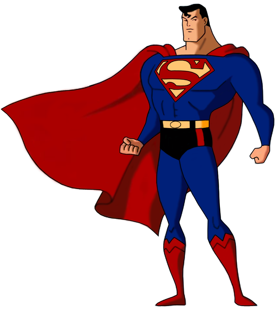 Superman animated clipart clipart black and white library Superman: The Animated Series / Characters - TV Tropes clipart black and white library