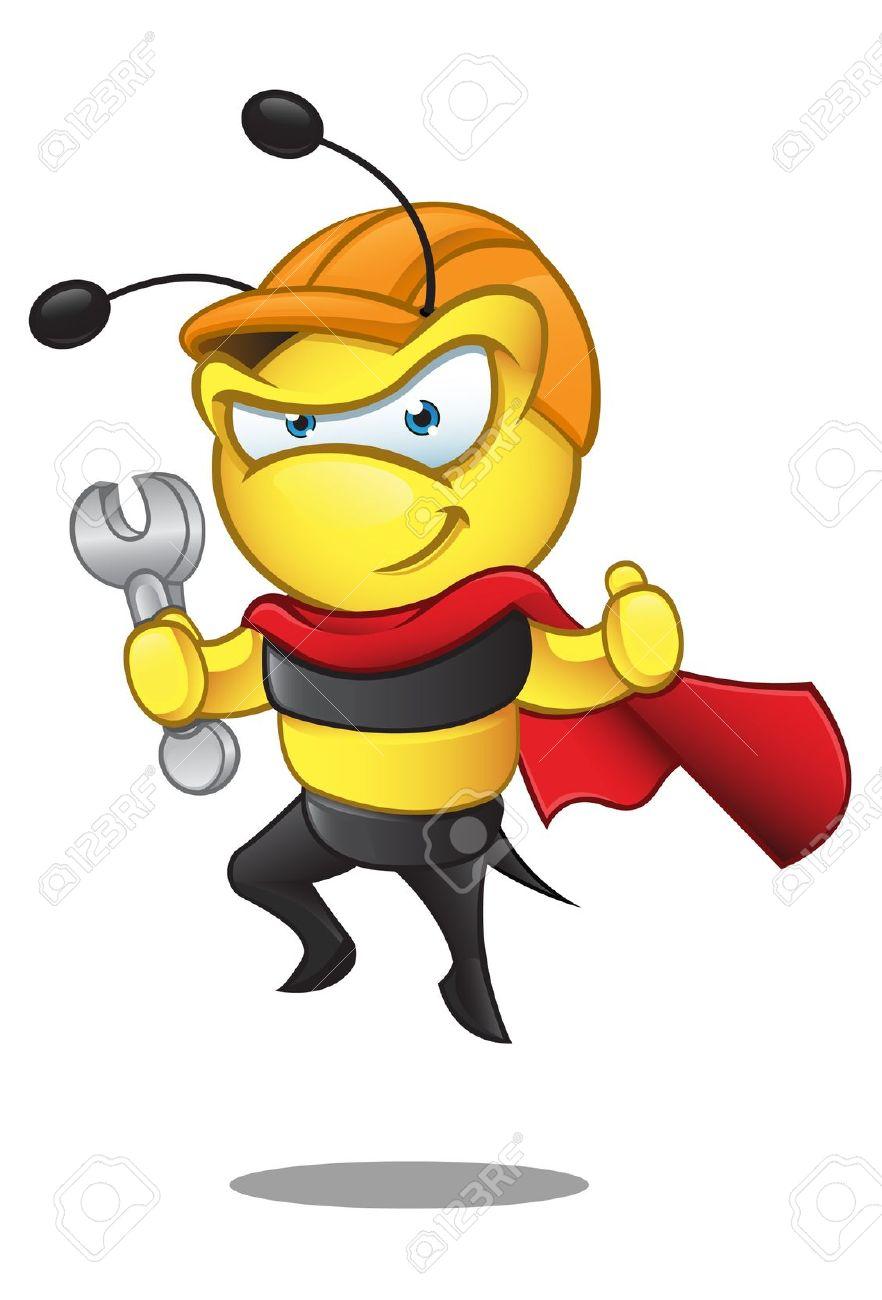 Superman bee clipart freeuse stock Superman bee clipart - ClipartFest freeuse stock