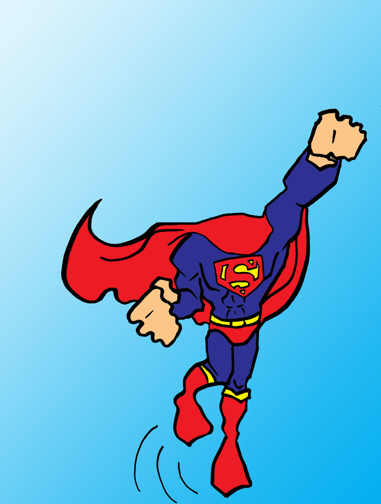 Superman body clipart png black and white download Superman body clipart - ClipartFest png black and white download