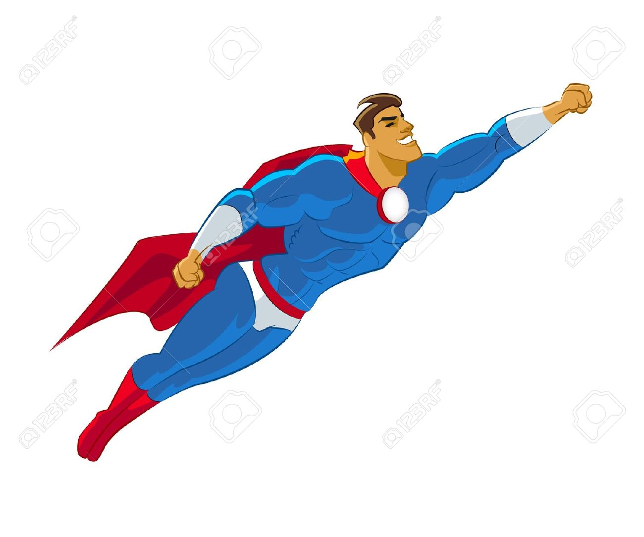 Superman body clipart png royalty free stock Superhero Flying Vector Illustration Royalty Free Cliparts ... png royalty free stock