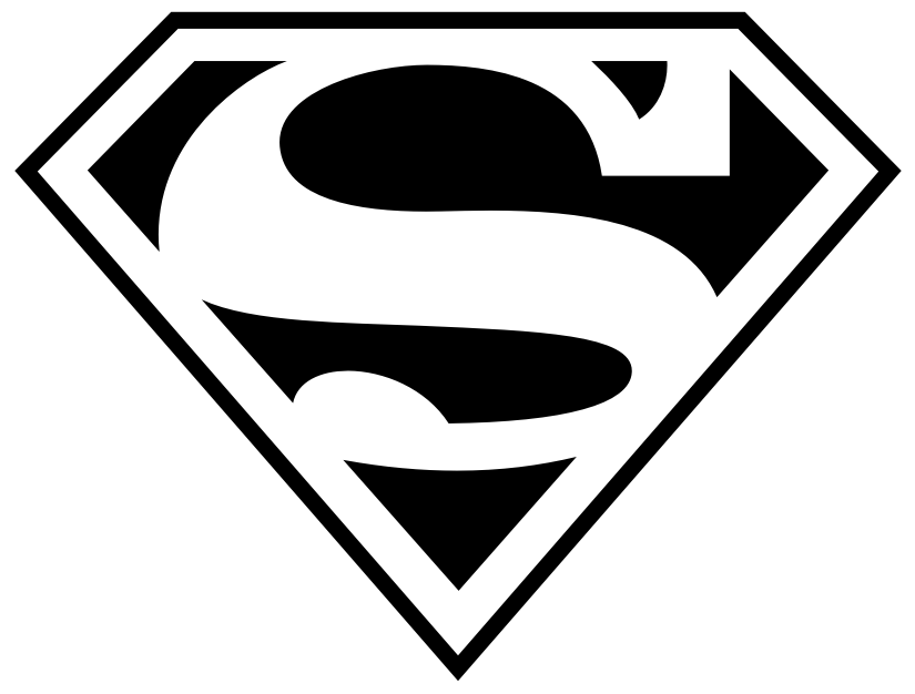 Superman chest logo clipart svg black and white library Superman chest logo clipart - ClipartFest svg black and white library