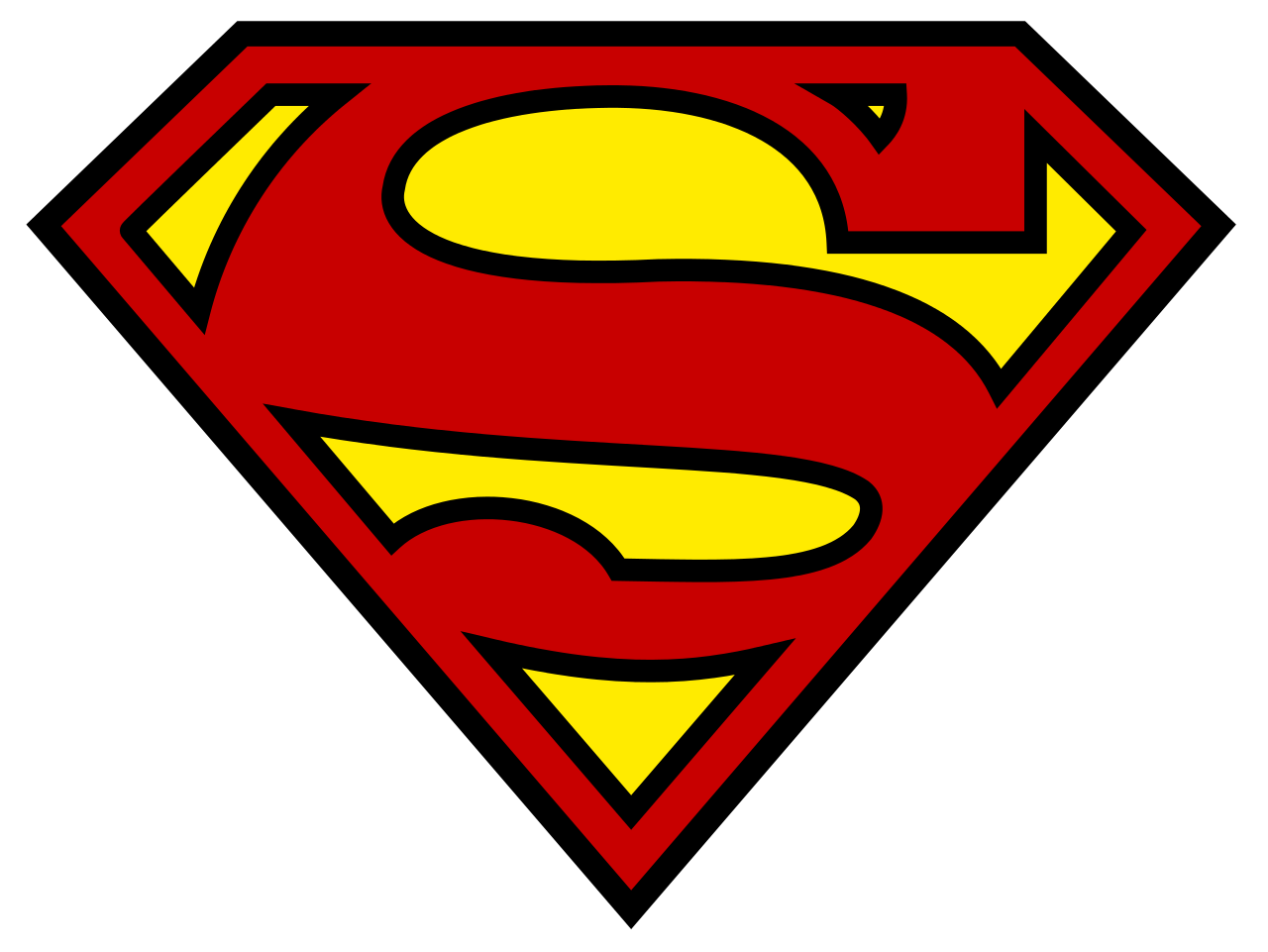 Apple outline with superman image clipart royalty free stock Superman logo - Wikipedia royalty free stock