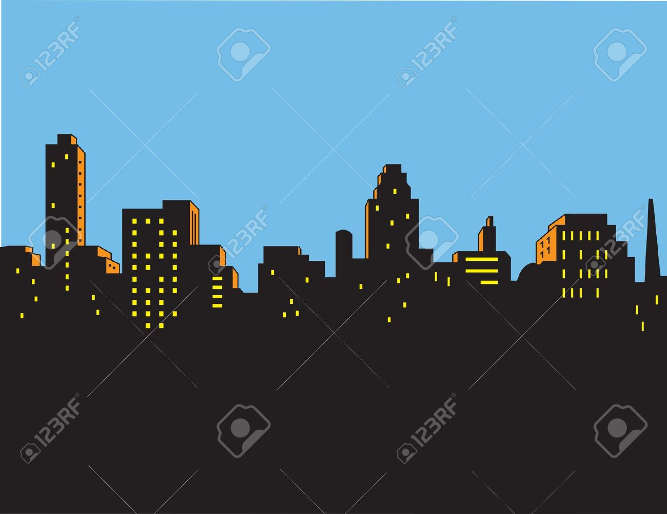 Superman city background clipart graphic library 45,977 Superhero Cliparts, Stock Vector And Royalty Free Superhero ... graphic library